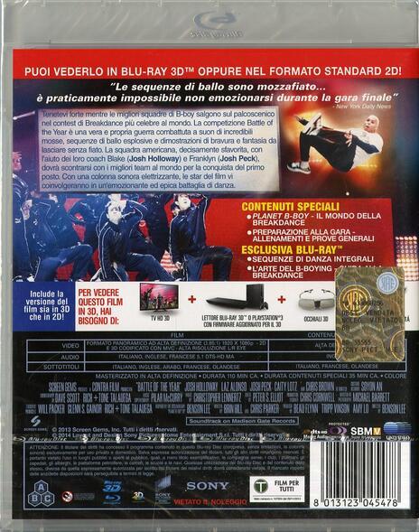 Battle of the Year 3D. La vittoria è in ballo (Blu-ray + Blu-ray 3D) di Benson Lee - 2
