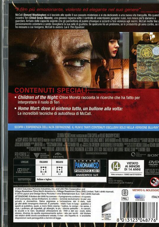 The Equalizer. Il vendicatore di Antoine Fuqua - DVD - 2