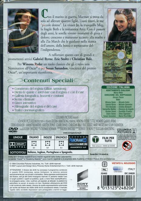 Piccole Donne (DVD)<span>.</span> Collector's Edition di Gillian Armstrong - DVD - 2