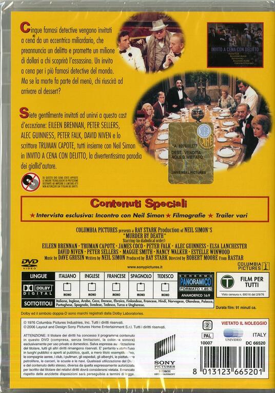 Invito a cena con delitto di Robert Moore - DVD - 2