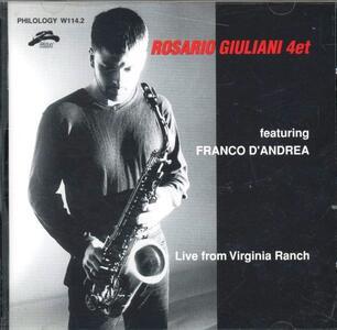 Live from Virginia Ranch - CD Audio di Rosario Giuliani