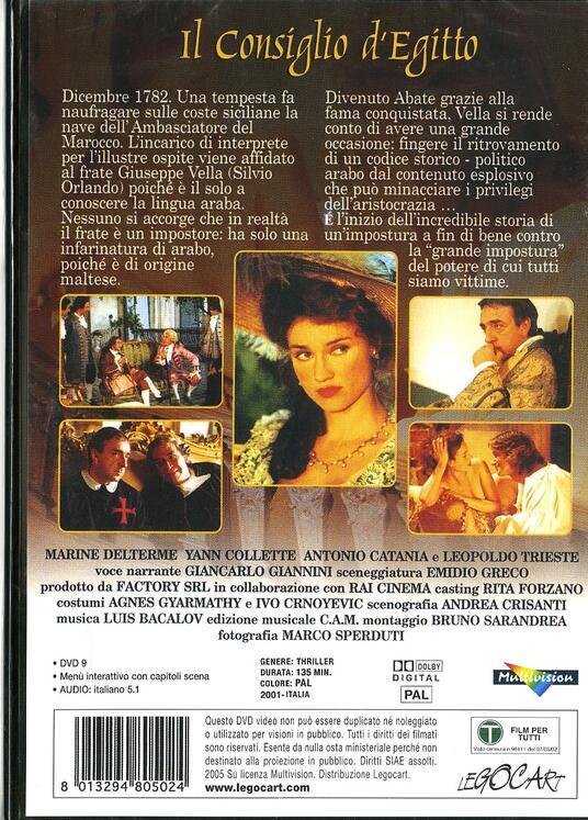 Il Consiglio d'Egitto di Emidio Greco - DVD - 2