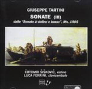 Sonate per violino autografe - CD Audio di Giuseppe Tartini