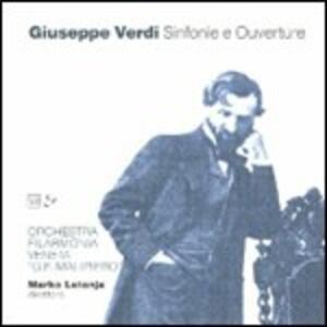 Sinfonie - Ouvertures - CD Audio di Giuseppe Verdi