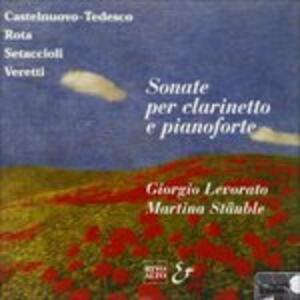 Sonata per Clar e Pf Op.128 - CD Audio di Mario Castelnuovo-Tedesco