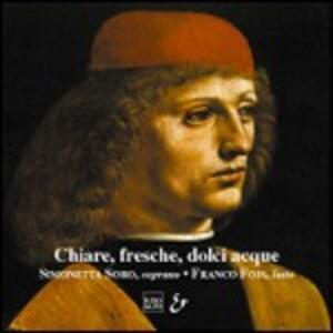 """Musica X Sop e Liuto""""chiare Fresche Dolci Acque"""" - CD Audio"""