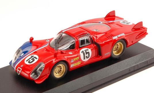 Alfa Romeo 33.2 Lm #15 Lm Test 1969 Pilette / Slotemaker 1:43 Model Bt9612