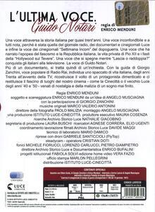 L' ultima voce. Guido Notari di Enrico Menduni - DVD - 2
