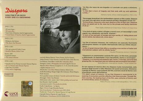 Diaspora, ogni fine è un inizio. Con album (4 DVD) di Luigi Faccini - DVD - 2