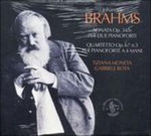 Sonata op.34b per due pianoforti - Quartetto op.67 n.3 per pianoforte a quattro mani - CD Audio di Johannes Brahms,Tiziana Moneta,Gabriele Rota