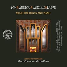 Concerto gregoriano per organo e pianoforte - CD Audio di Pietro Alessandro Yon,Marco Cortinovis