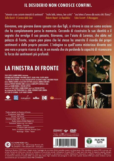 La finestra di fronte (DVD) di Ferzan Ozpetek - DVD - 2