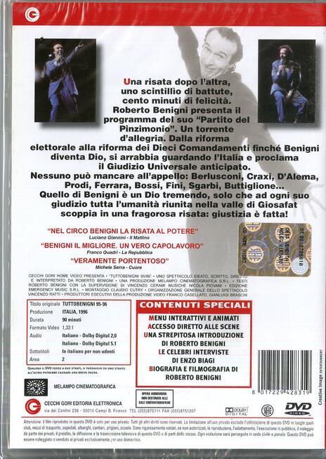 Tuttobenigni 95-96 di Roberto Benigni - DVD - 2