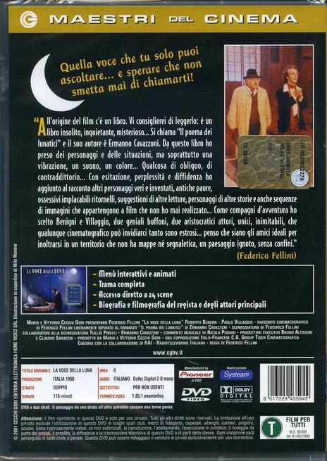 La voce della Luna di Federico Fellini - DVD - 2