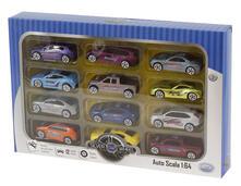 Silver Wheel Pack Da 12 Auto In Diecast Cm. 7