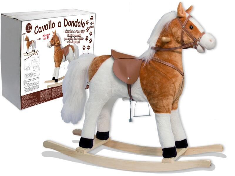Cavallo A Dondolo In Peluche.Cavallo A Dondolo In Peluche Teorema Cavalli E Pony Giocattoli