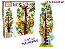 Fatto Di Legno Metro Con Animali 80 Cm Pieghevole