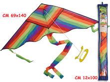 Aquilone Arcobaleno Con Una Maniglia In Sacca 140X69Cm