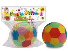 Giocattolo Palla Sonora Morbida Con Sonaglio 13 Cm Teorema
