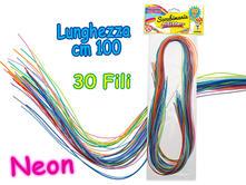 Teo'S Scoubidou Mania 30 Fili 100 Cm Colori Neon Busta