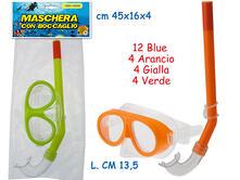 Maschera Subacqueo Kids 13,5 Cm Con Boccaglio Modello Stromboli (Assortimento)