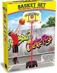 Gioco Basket Con Piantana Diametro 38 Cm Altezza 238 Cm Con Accessori
