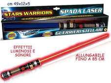 Giocattolo Stars Warriors. Spada Laser Con Luci E Suoni Teorema