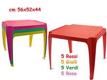 Tavolo In Plastica 56x52x44 Cm (Assortimento)