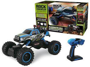 Giocattolo Rock Crawler Blu Con Sospensioni E Radiocomando 4 Ruote Motrici Teorema