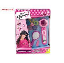 Fashion Girl Crea Acconciature Con Accessori. Window Box