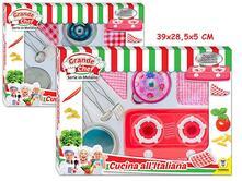 Set Cucina Con Luci E Suoni 2Ass Pentole In Metall - Window Box