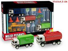 Mr. Boy. Mezzi Trasporti Pesanti Con Accessori 2 Modelli. Window Box