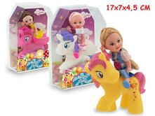 Miss Signorina. Magic Pony Con Bambola 3 Ass. Window Box