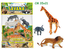 Animali Savana Busta 6 Pz