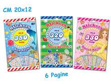 Tattoo - Sticker Book 8 Pagine Princess / Fancy / Tribal (Assortimento)