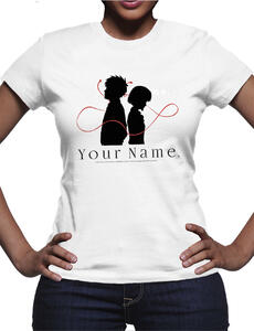 T-Shirt donna Your Name. Logo