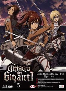 L' attacco dei giganti. Vol 5 (DVD + Blu-ray) di Tetsuro Araki