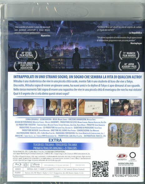 Your Name. (Blu-ray) di Makoto Shinkai - Blu-ray - 2