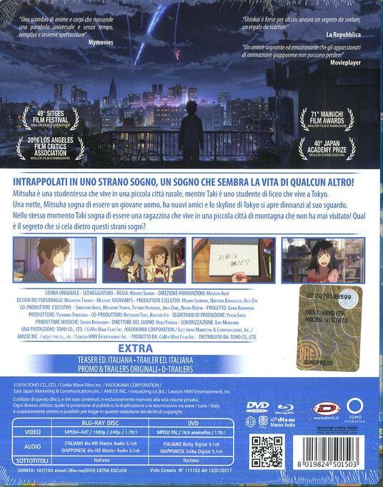 Your Name. Steelbook Limited Edition (DVD + Blu-ray) di Makoto Shinkai - DVD + Blu-ray - 2