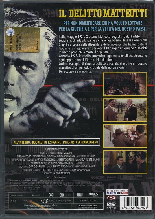 Il delitto Matteotti di Florestano Vancini - DVD - 2