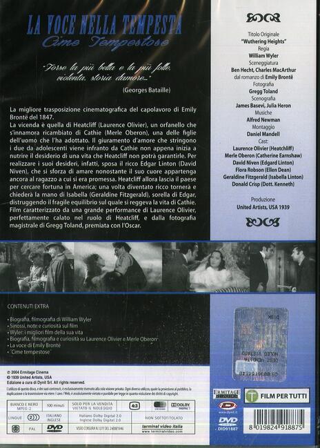 La voce nella tempesta di William Wyler - DVD - 2