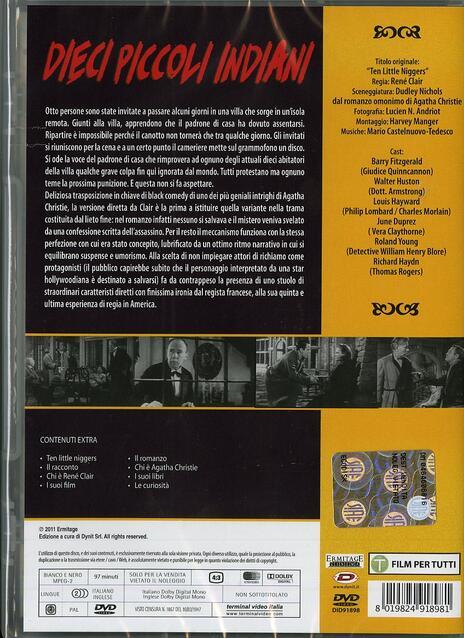 Dieci piccoli indiani di René Clair - DVD - 2