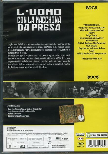L' uomo con la macchina da presa (DVD) - DVD - Film di Dziga