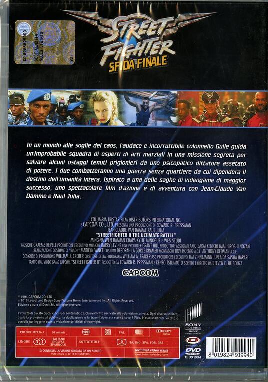 Street Fighter. Sfida finale di Steven De Souza - DVD - 2