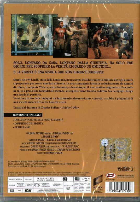 Storia di un soldato di Norman Jewison - DVD - 2
