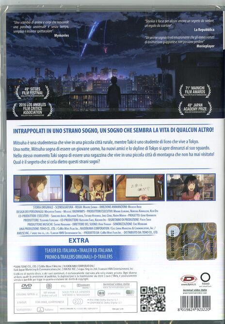 Your Name. (DVD) di Makoto Shinkai - DVD - 2