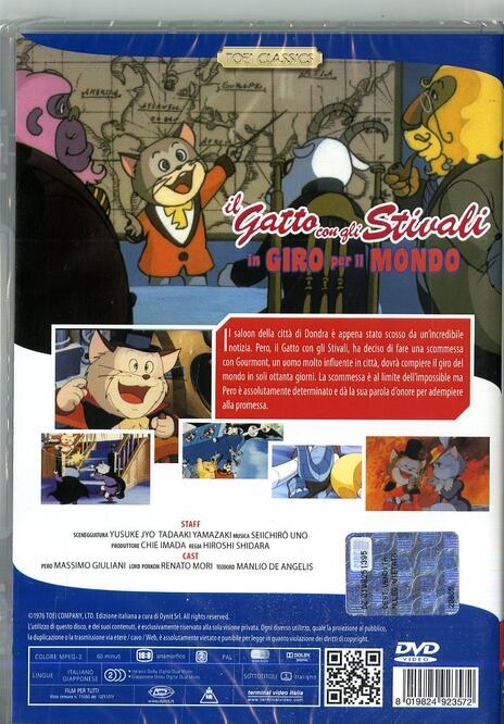 Il gatto con gli stivali in giro per il mondo di Hiroshi Shidara - DVD - 2