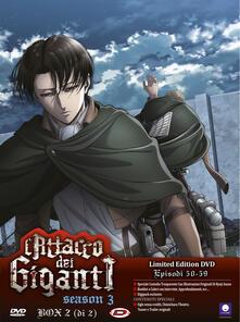L' attacco dei giganti. Season 03 box #02 eps 13-22. Limited Edition (2 DVD) di Tetsuro Araki - DVD