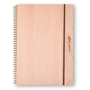 Quaderno spiralato Rewood grande a pagine bianche. Marrone