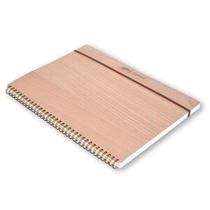 Quaderno spiralato Rewood grande a pagine bianche. Marrone - 2